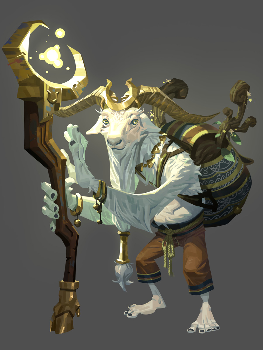 The Fourteen Gold Weapons - The Wizard. by Nesskain