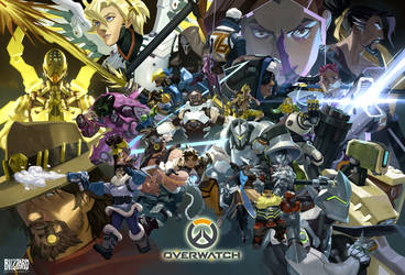 Overwatch 1yr Anniversary by Nesskain