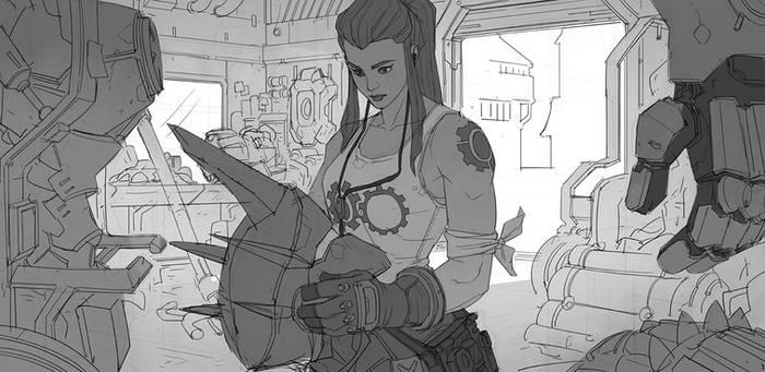 Overwatch - Brigitte by Nesskain