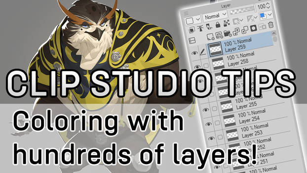 Clip Studio tips - Coloring with 100s of layers