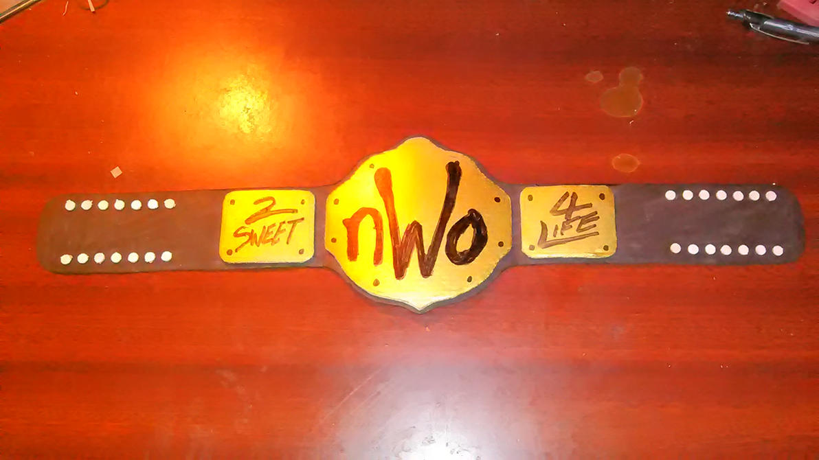 nWo Championship mini belt. by KingBearacuda185
