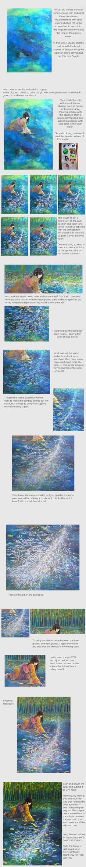 Acrylic painting tutorial by miimork