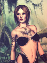 Elf warrior helena by blindblues46