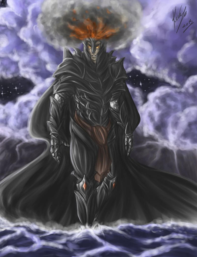 Melkor's Arrival by sarumanka