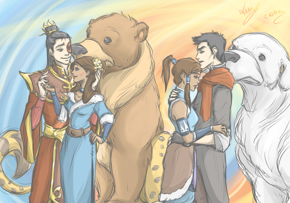 Zutara and Makorra by sarumanka