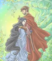 Beren and Luthien by sarumanka