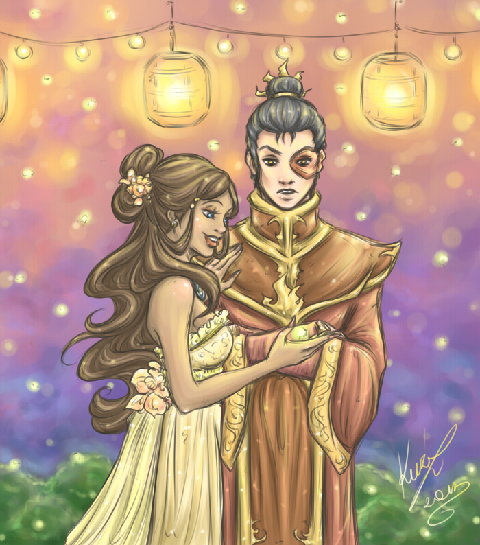 Zutara Week - Day 1 - Fireflies by sarumanka