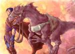 Reptile Rider by sarumanka