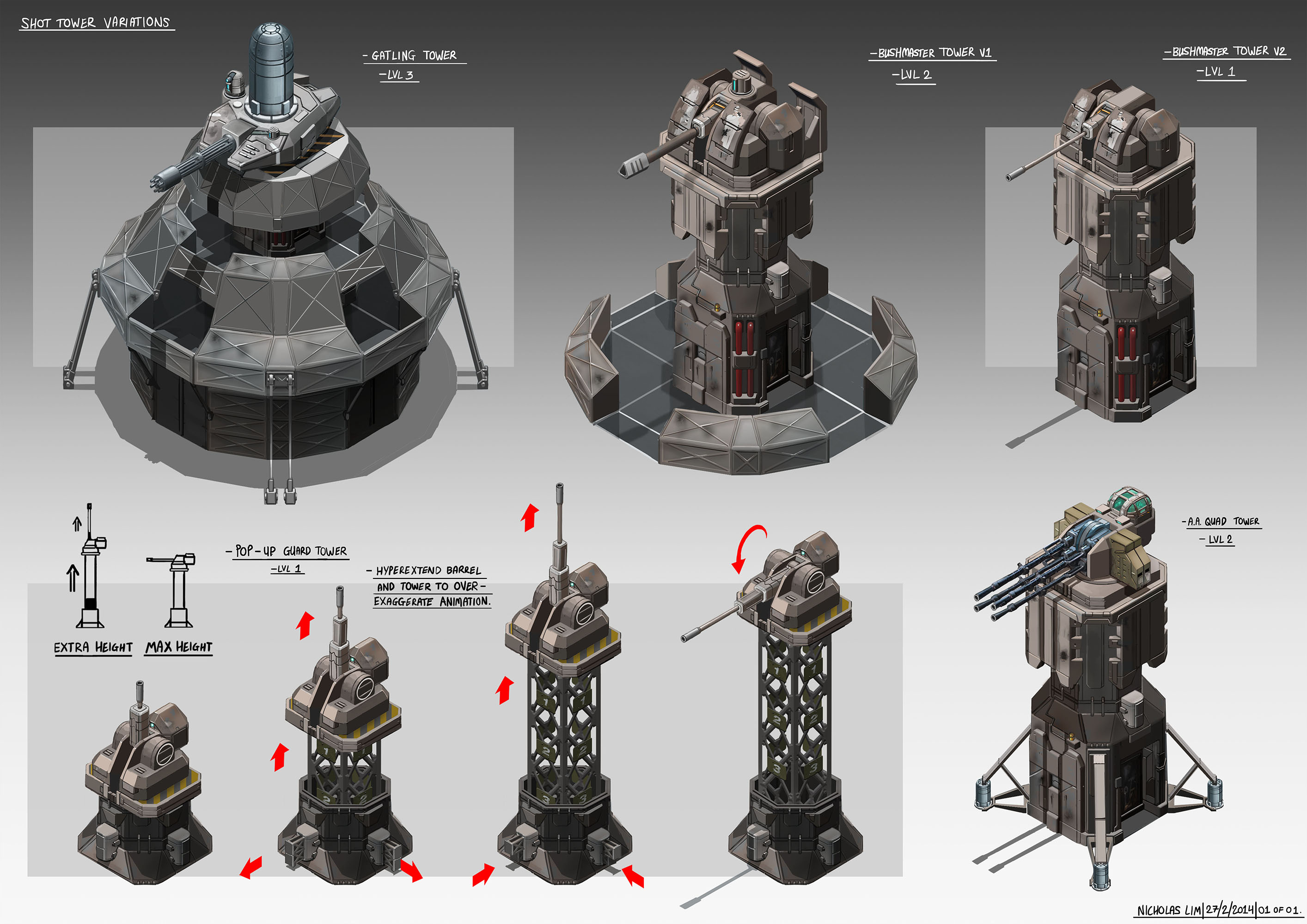 PICS:TD Machine Gun Tower Concepts by Magnum117 on DeviantArt