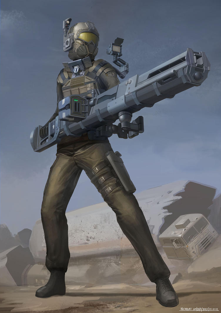 Strategic Strike Infantry with HOG Railgun by Magnum117