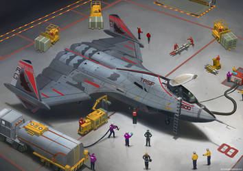 TRSF Interceptor Fighter - Rearming Concept by Magnum117