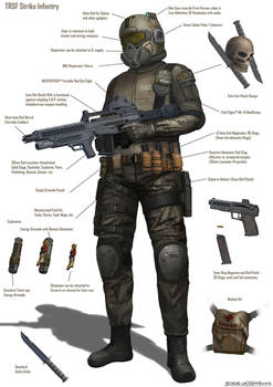TRSF Strike Infantry Combat Gear Sheet