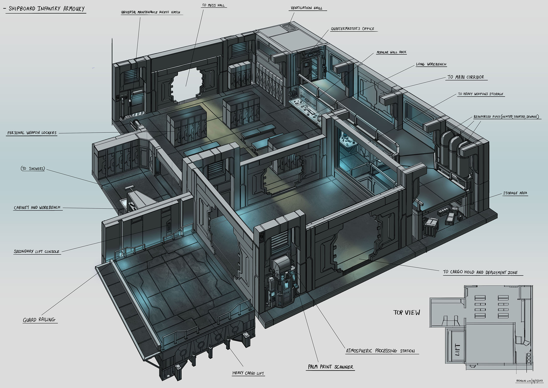 Ship Armoury Interior Concept By Magnum117 On Deviantart