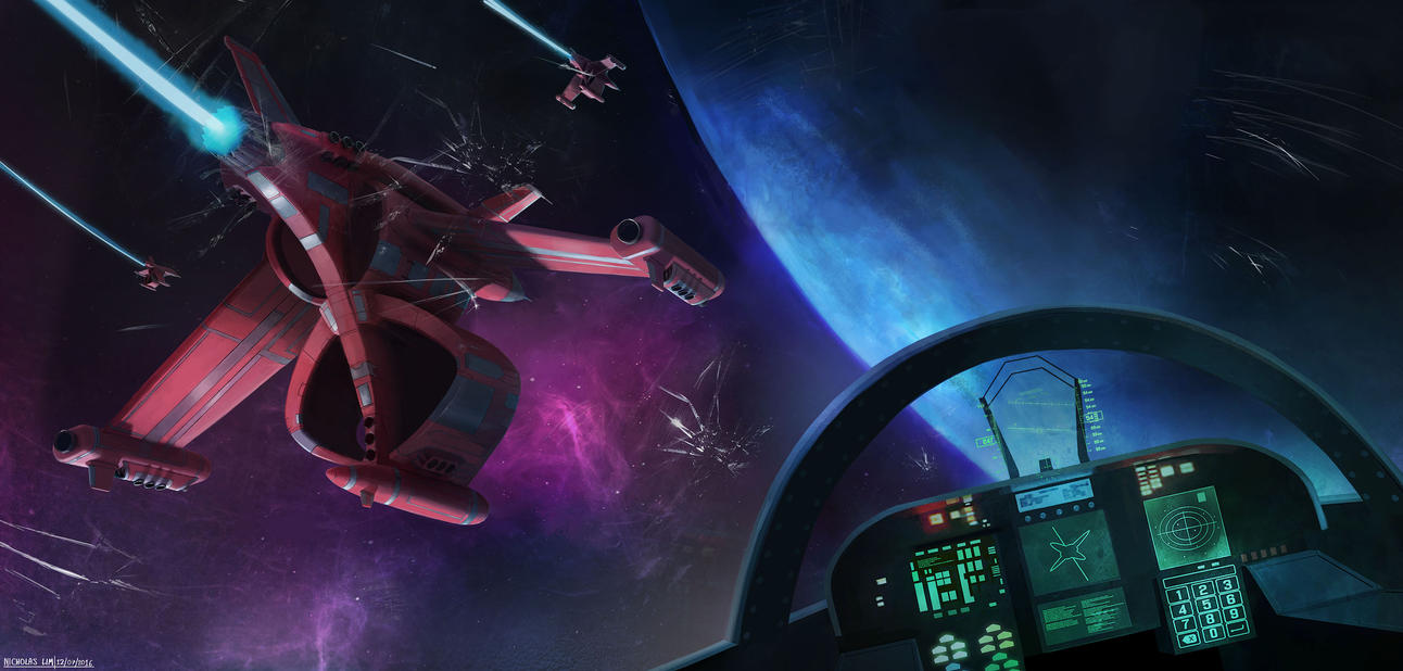 Space Combat - Fighter PoV by Magnum117