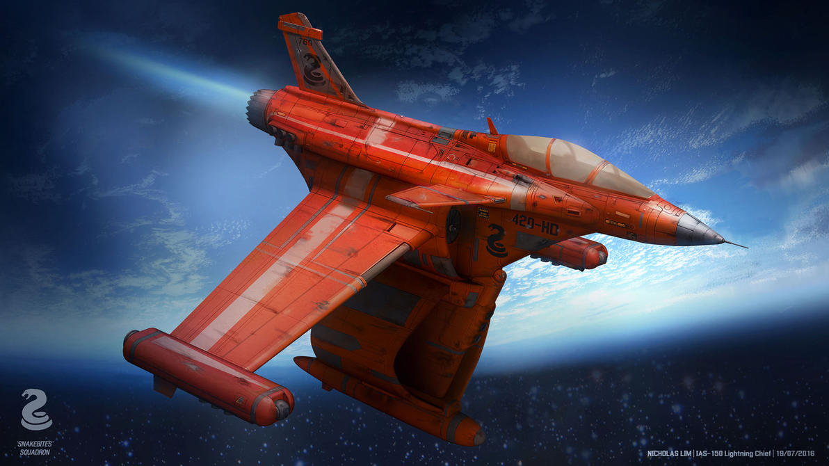 Lightning Chief Space Fighter by Magnum117