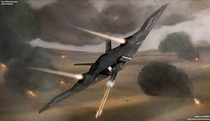'Raven' Gunship Strafing Run