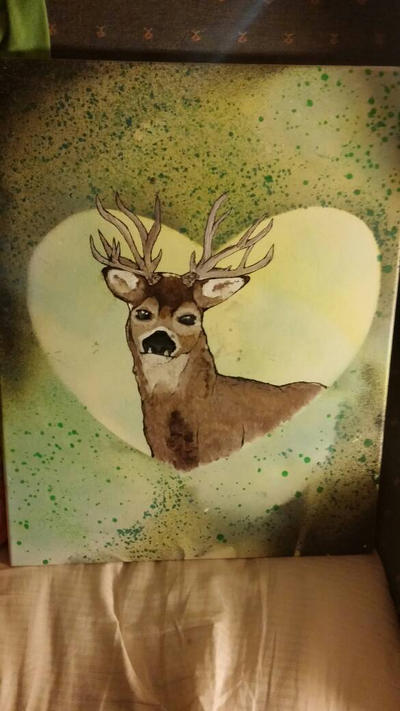 Deer painting for my brother by SarahsArtandPhotos