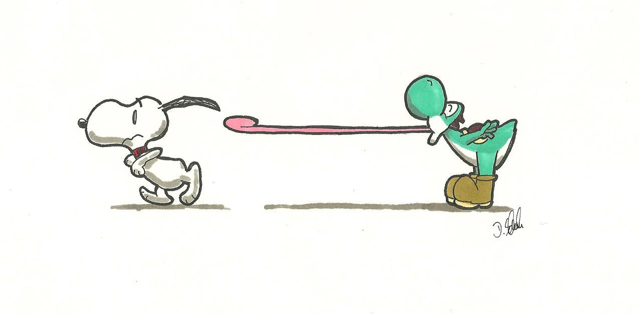Snoopy vs Yoshi by Schmeh1911