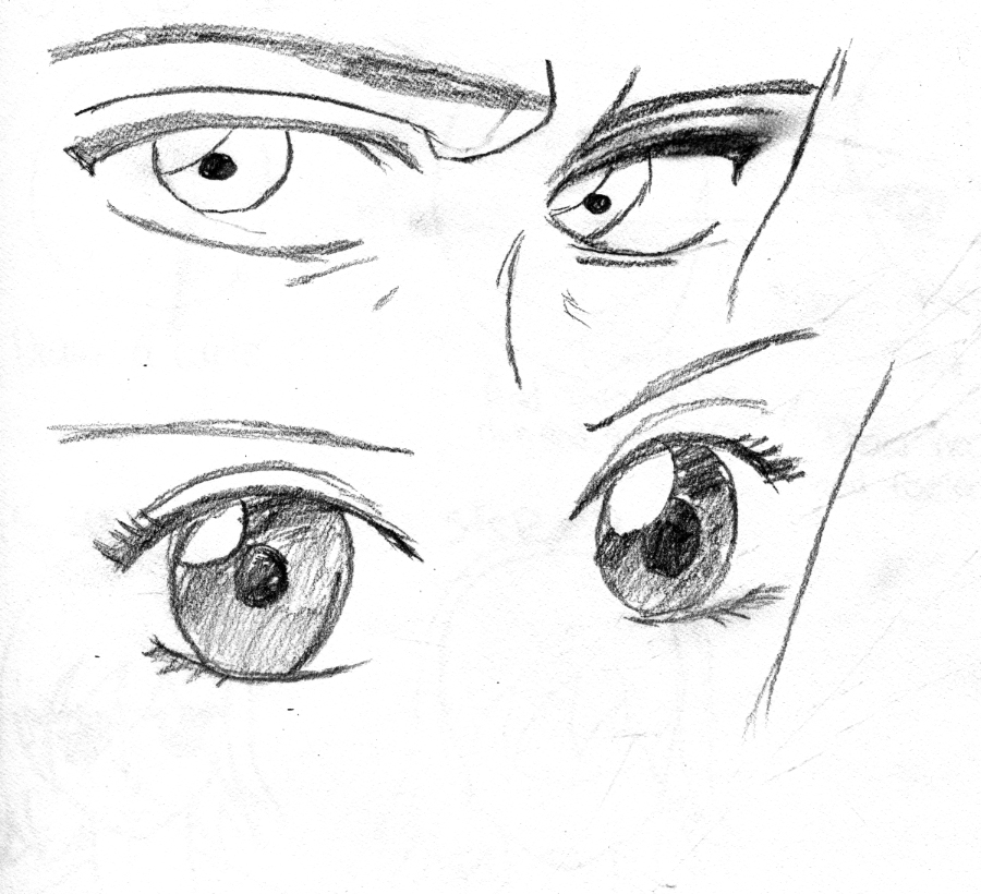 Happy Male Anime Eyes Coloring Coloring Pages