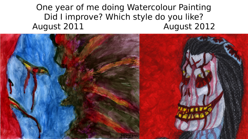 One Year of Watercolour Painting
