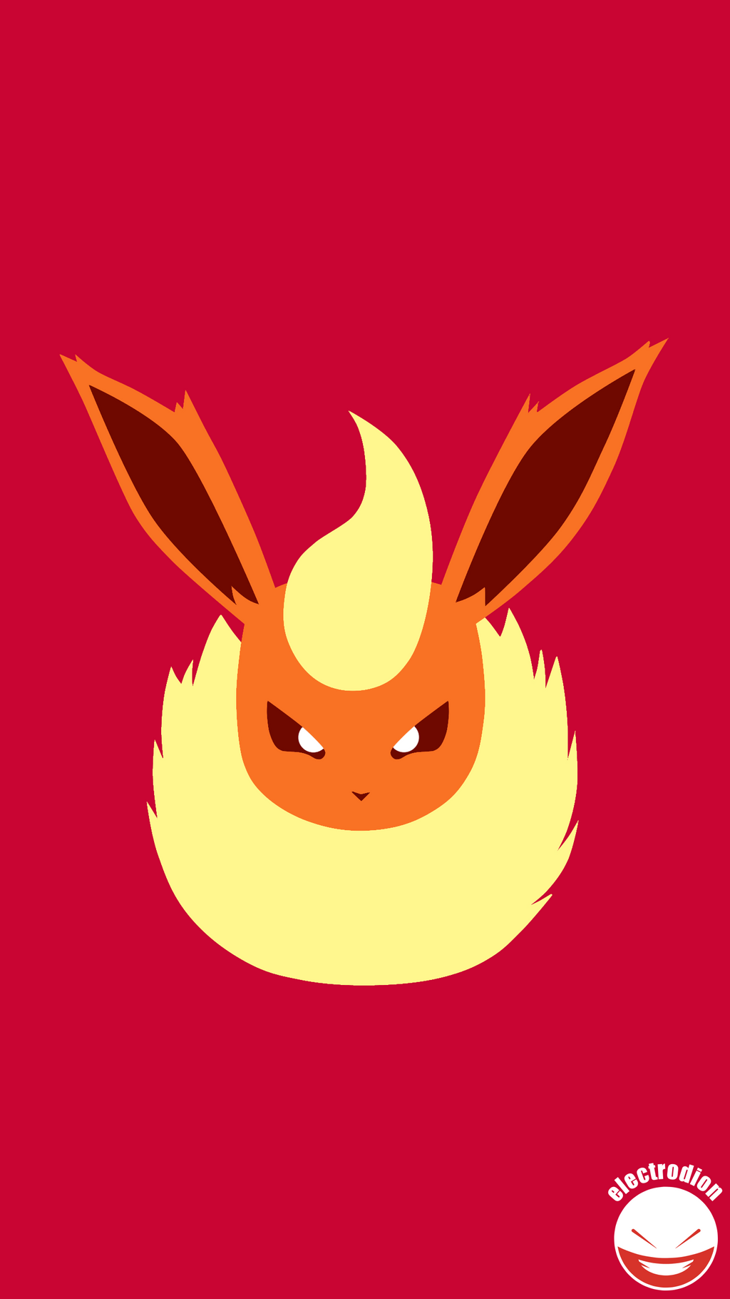 Flareon minimal pokemon art quad hd qhd by electrodion for Minimal art hd