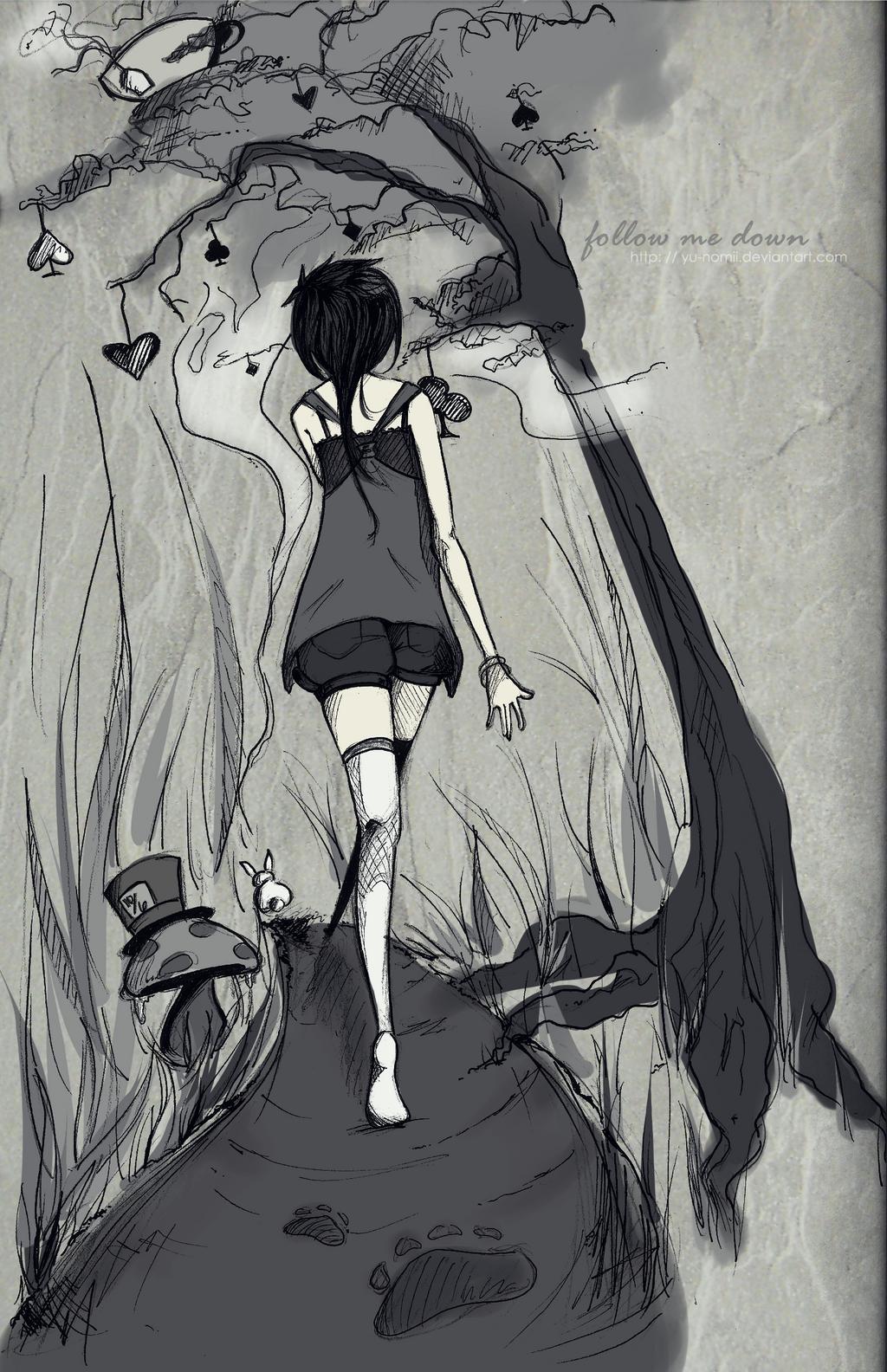 follow me down by yu-nomii