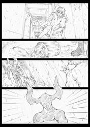 comic page pencil by LABYLABY