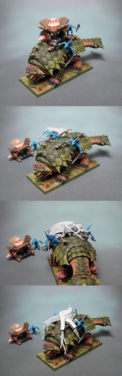 Lizardmen Bastiladon 2 by Graveus