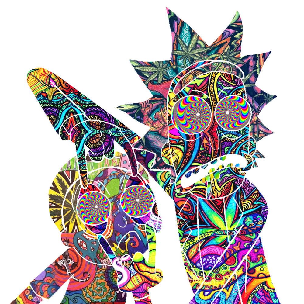 Rick And Morty Trippy Render By Shiro 420 On Deviantart