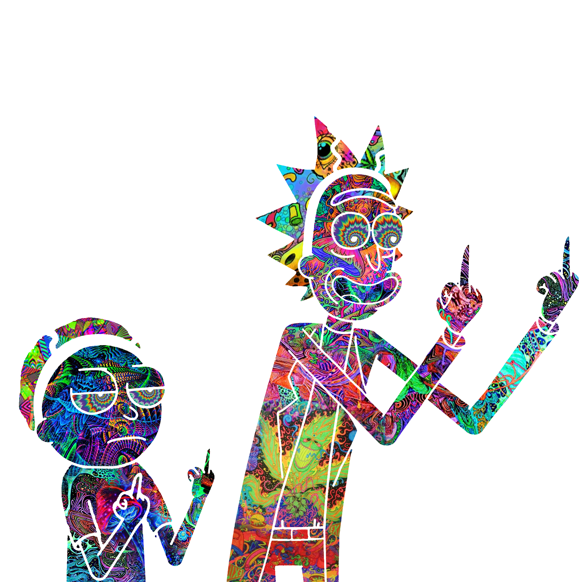 Rick and Morty trippy render by Shiro-420 on DeviantArt