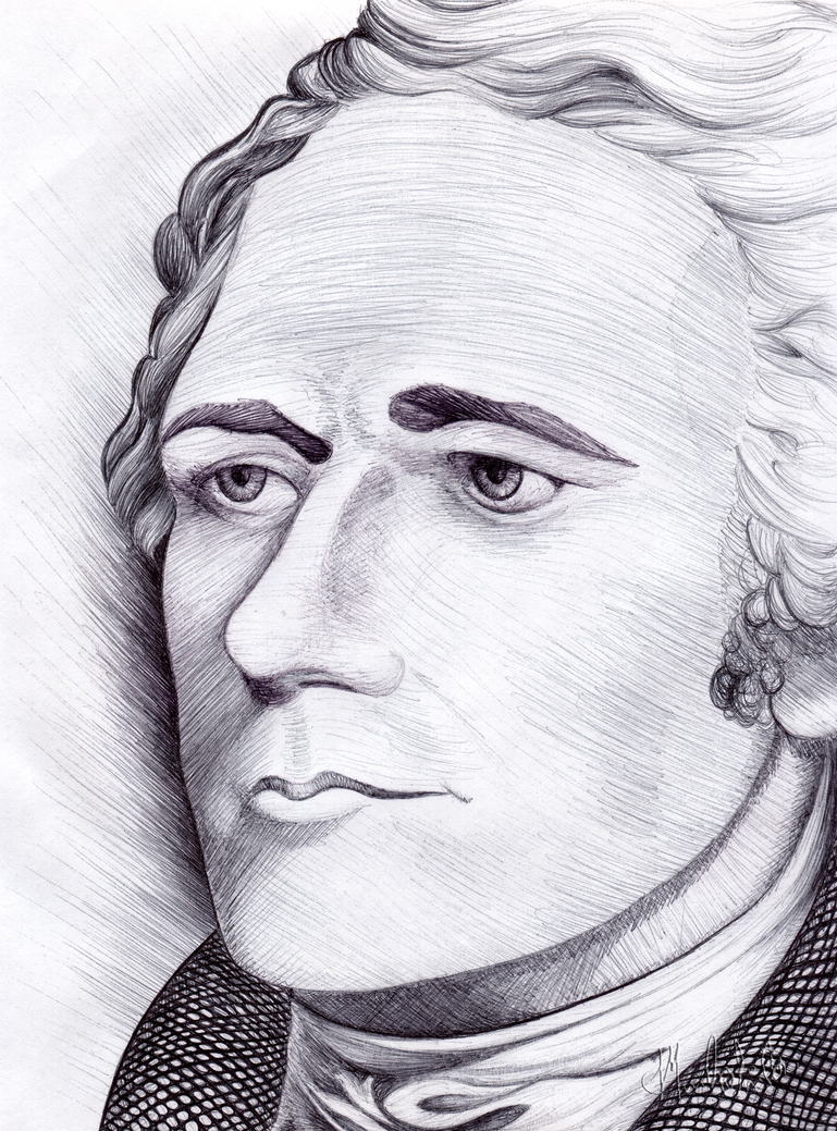 Alexander Hamilton Sketch My Home And Yours
