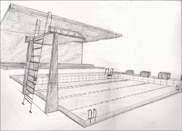 Drawing Swimming Pools : Swimming pool sketch by sherifkd on deviantart