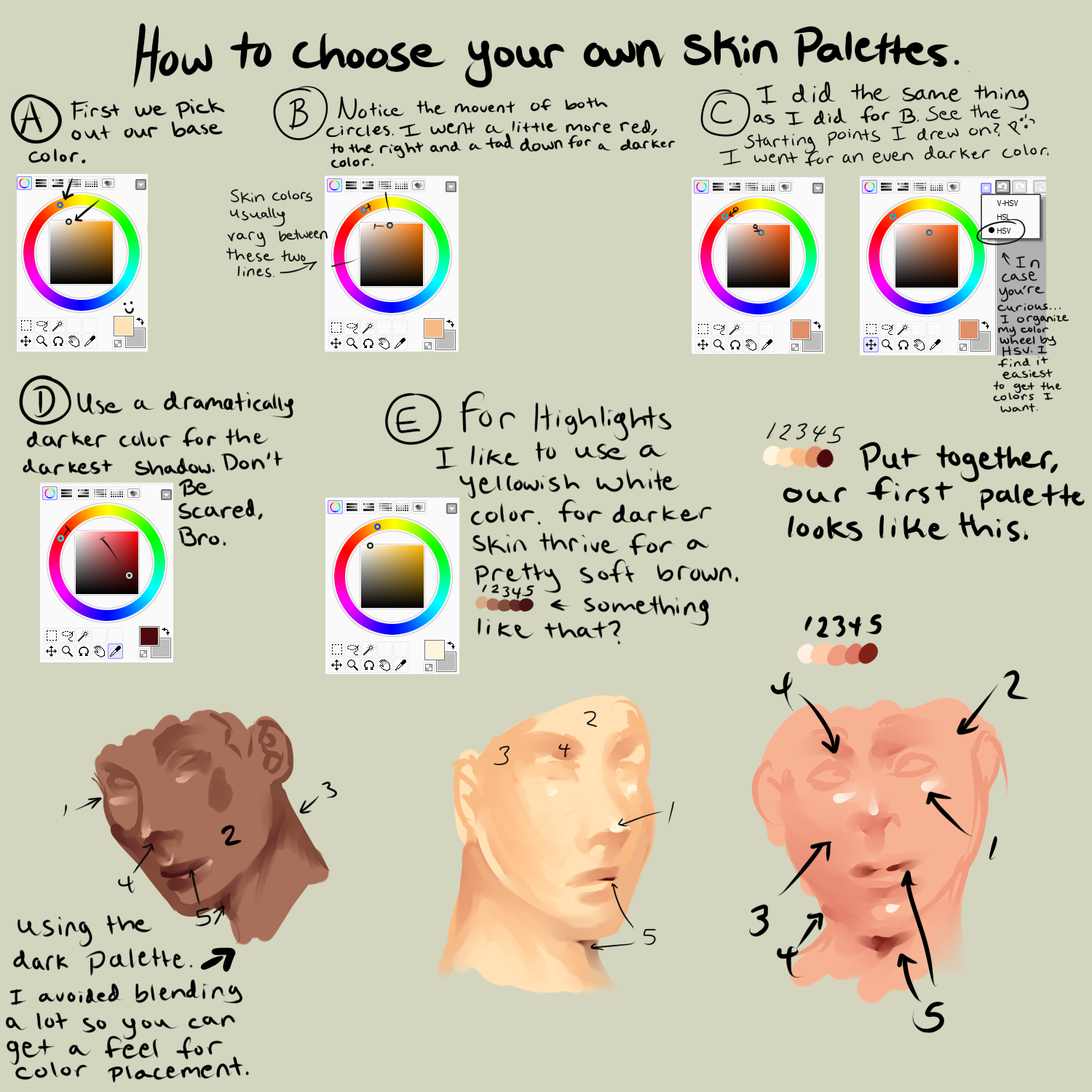 How To Pick Out Your Colors For Semi Realism By