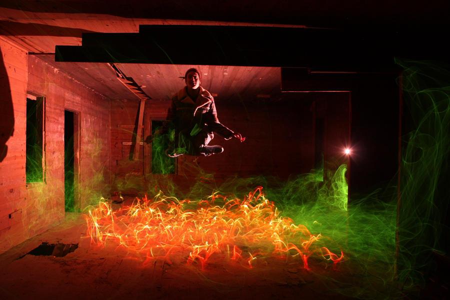 Dennis Calvert  lightpainting Shaolin_Zen_by_Dennis_Calvert