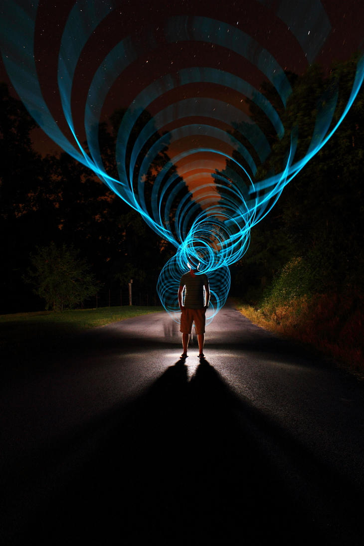 Super rad light painting by dennis calvert for Lights for paintings