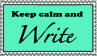 Calm Write Stamp by ZeroFangirl-Mu