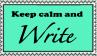 Calm Write Stamp by ZeroFangirl-Mu