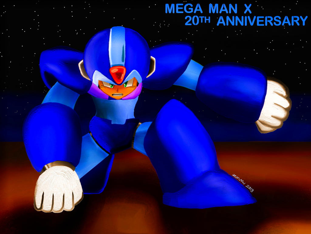 Mega Man X: Cool Pose by ZeroFangirl-Mu