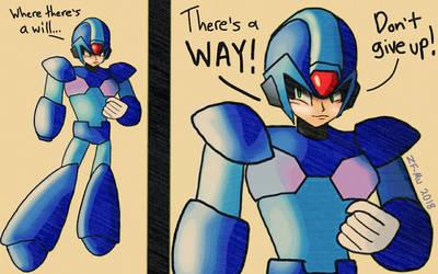 Mega Man X - Don't Give Up! by ZeroFangirl-Mu