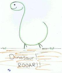 Dinosaur! ^_^ by Squiddy-chan