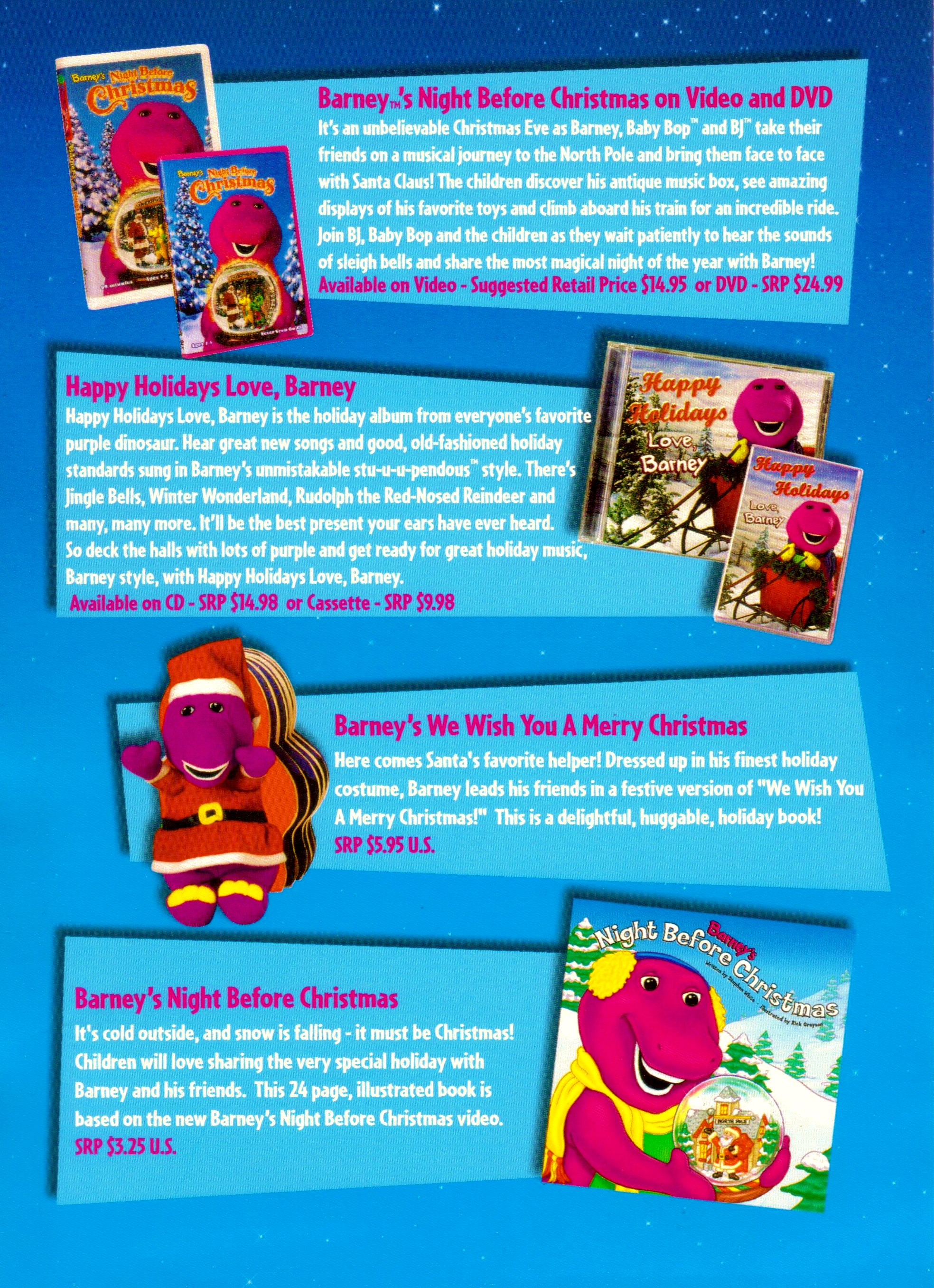 Barney A Very Merry Christmas The Movie Dvd.Fun Barney Christmas Products By Bestbarneyfan On Deviantart