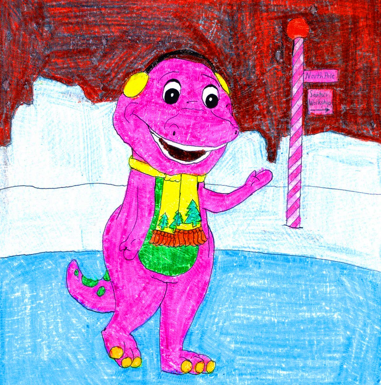 Barney And The Backyard Gang A Day At The Beach: Barney Ice Skating By BestBarneyFan On DeviantArt