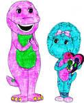 Baby Bop Gives Barney A Valentine