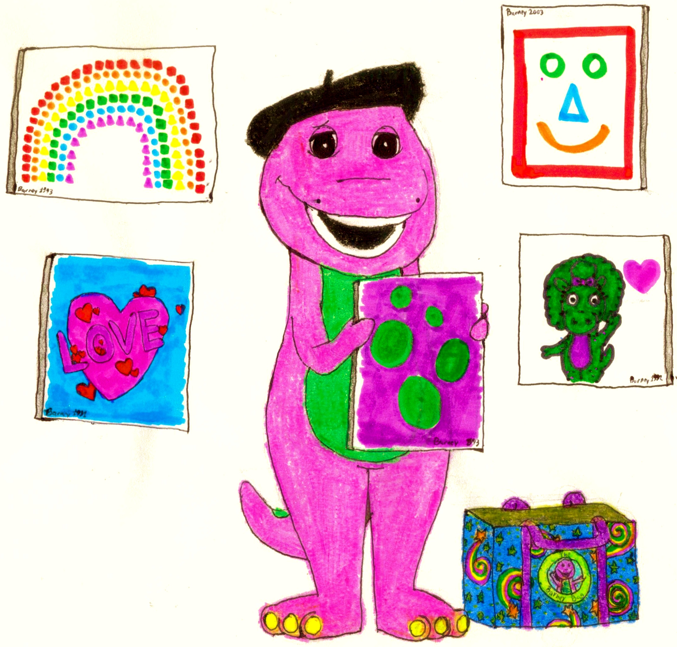 Barney Made A Lot Of Pictures By BestBarneyFan On DeviantArt ...
