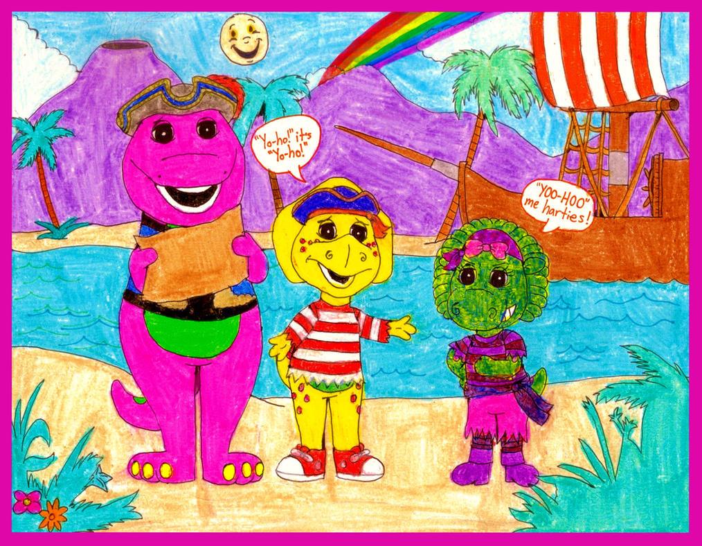 barney and friends on a treasure hunt by bestbarneyfan on deviantart