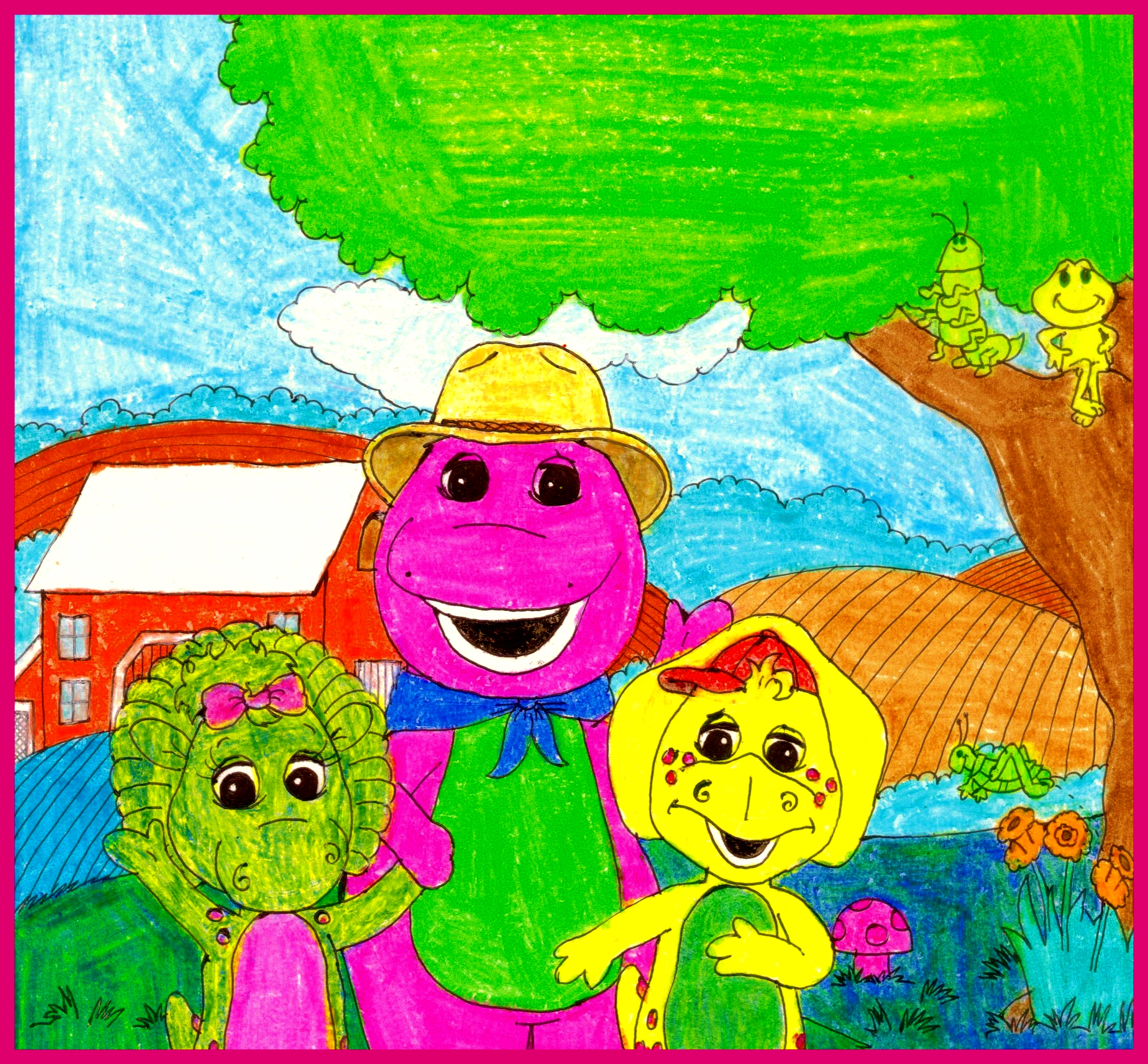 Let's Go To The Farm With Barney By BestBarneyFan On