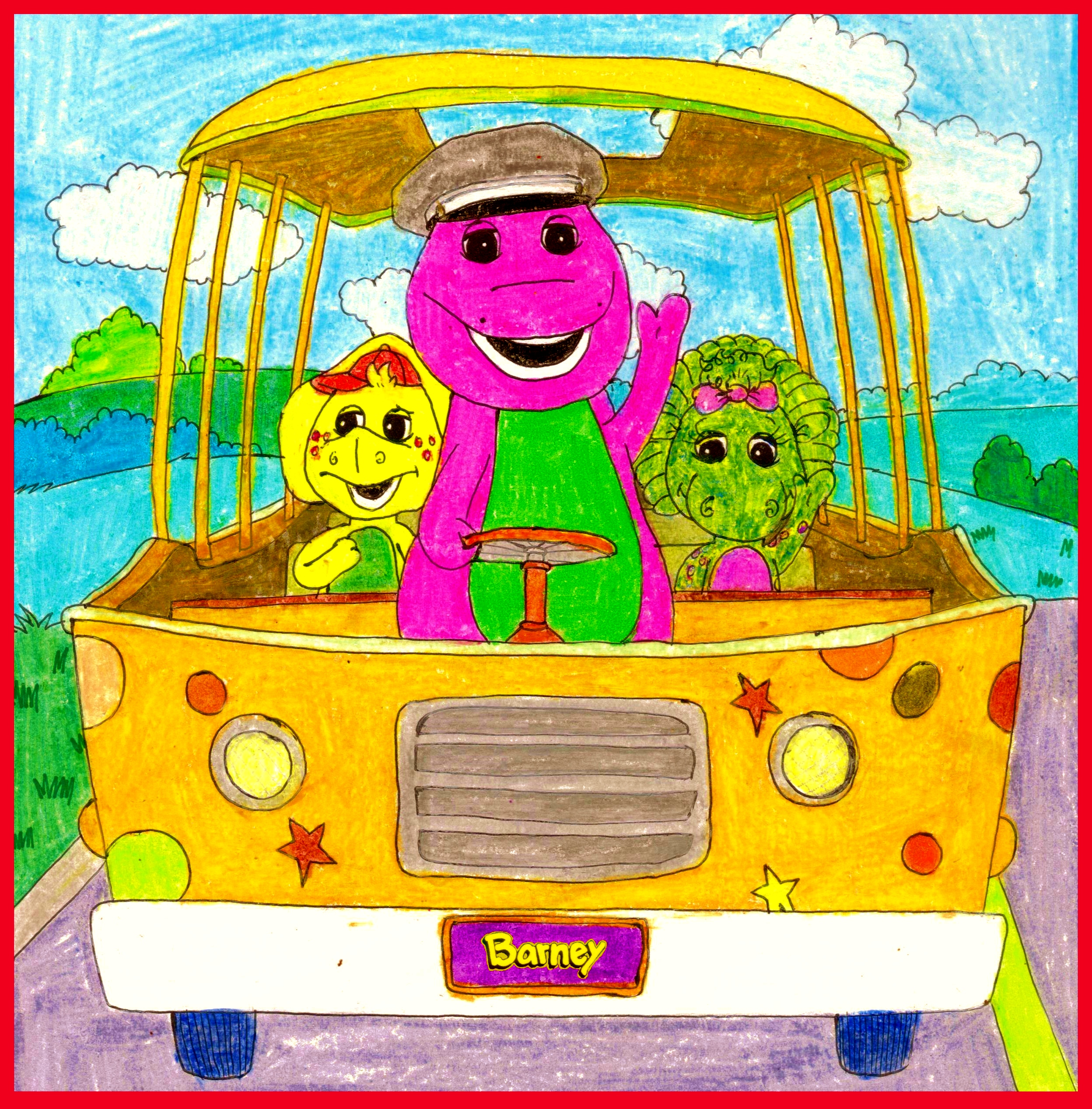 Barney And The Backyard Gang A Day At The Beach: Barney's Adventure Bus By BestBarneyFan On DeviantArt