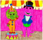 Barney and Baby Bop At The Circus