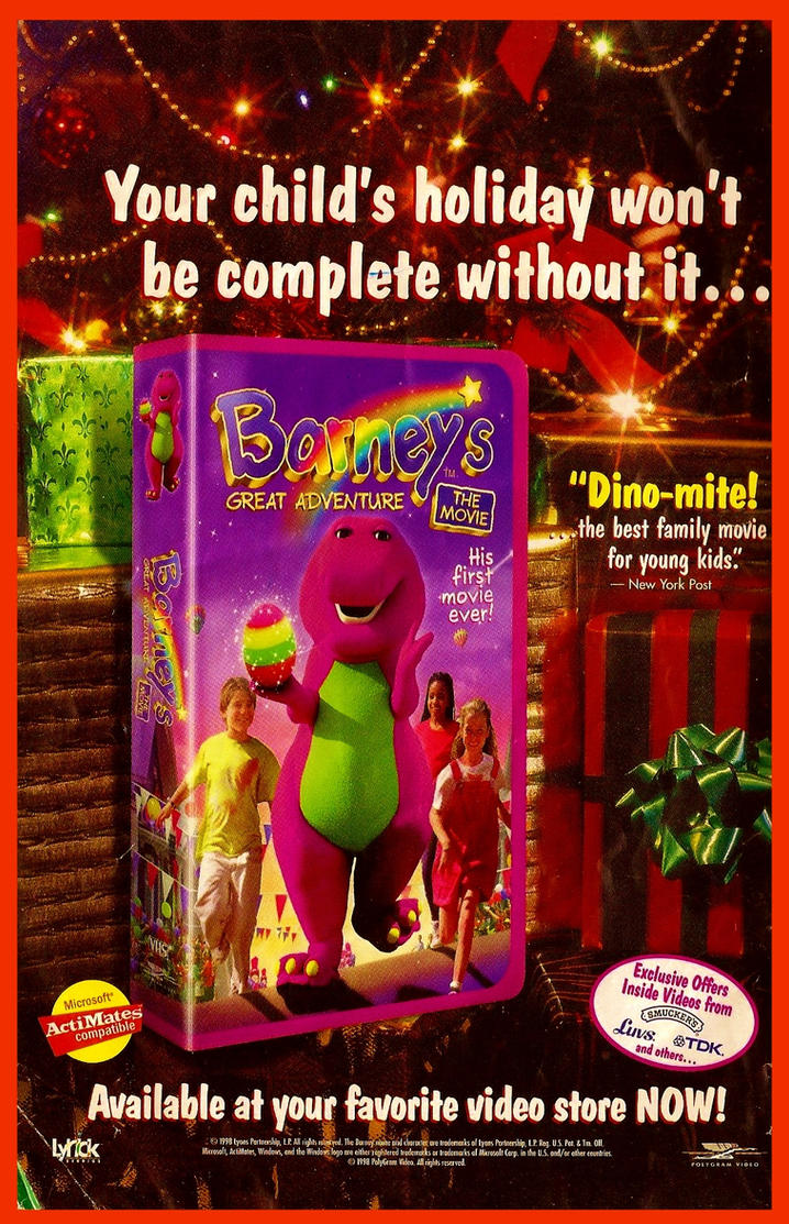 Barney\'s Great Adventure Video Christmas Promo Ad by BestBarneyFan ...