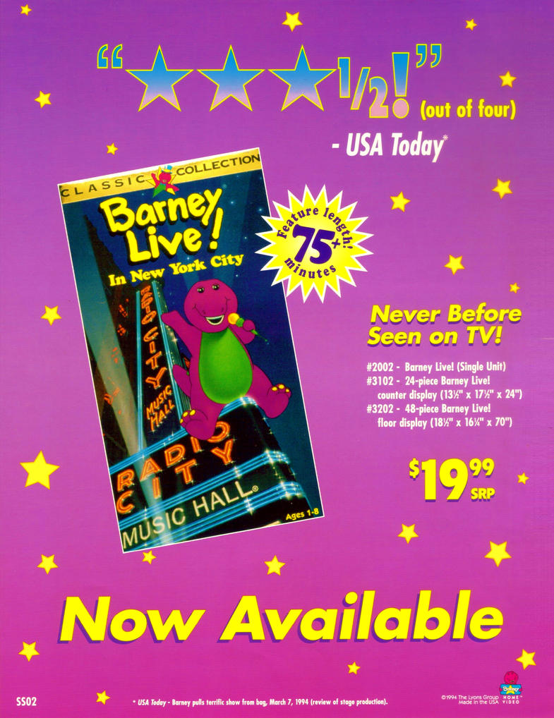 Barney Live! In New York City Promo Ad By BestBarneyFan On